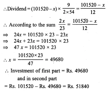 ML Aggarwal Class 10 Solutions for ICSE Maths Chapter 3 Shares and Dividends Chapter Test 10