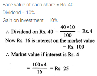 ML Aggarwal Class 10 Solutions for ICSE Maths Chapter 3 Shares and Dividends Chapter Test 11