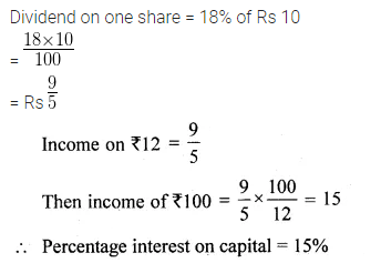 ML Aggarwal Class 10 Solutions for ICSE Maths Chapter 3 Shares and Dividends Chapter Test 2