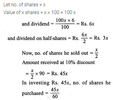ML Aggarwal Class 10 Solutions for ICSE Maths Chapter 3 Shares and Dividends Chapter Test 7