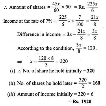 ML Aggarwal Class 10 Solutions for ICSE Maths Chapter 3 Shares and Dividends Chapter Test 8