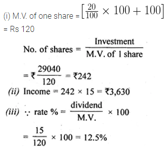 ML Aggarwal Class 10 Solutions for ICSE Maths Chapter 3 Shares and Dividends Ex 3 10