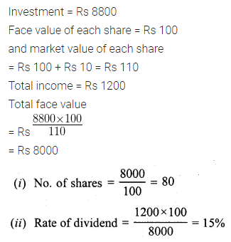 ML Aggarwal Class 10 Solutions for ICSE Maths Chapter 3 Shares and Dividends Ex 3 12