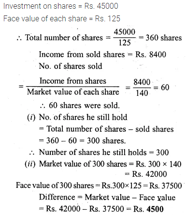 ML Aggarwal Class 10 Solutions for ICSE Maths Chapter 3 Shares and Dividends Ex 3 13