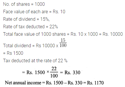 ML Aggarwal Class 10 Solutions for ICSE Maths Chapter 3 Shares and Dividends Ex 3 14
