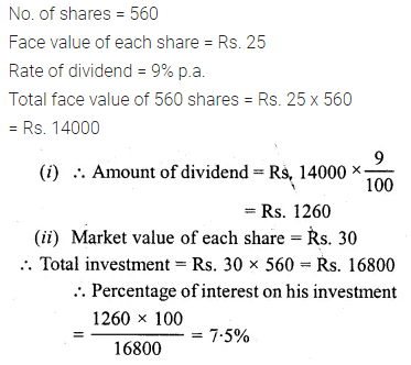 ML Aggarwal Class 10 Solutions for ICSE Maths Chapter 3 Shares and Dividends Ex 3 15
