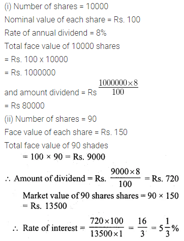 ML Aggarwal Class 10 Solutions for ICSE Maths Chapter 3 Shares and Dividends Ex 3 16