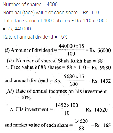 ML Aggarwal Class 10 Solutions for ICSE Maths Chapter 3 Shares and Dividends Ex 3 17