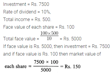 ML Aggarwal Class 10 Solutions for ICSE Maths Chapter 3 Shares and Dividends Ex 3 18