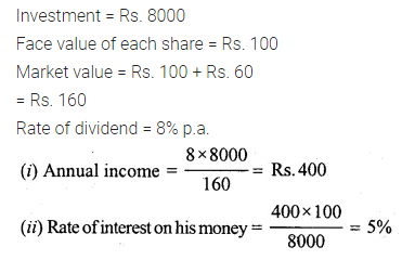 ML Aggarwal Class 10 Solutions for ICSE Maths Chapter 3 Shares and Dividends Ex 3 19