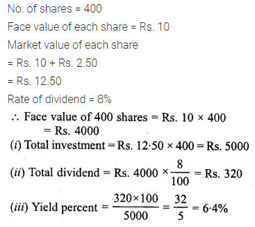 ML Aggarwal Class 10 Solutions for ICSE Maths Chapter 3 Shares and Dividends Ex 3 20