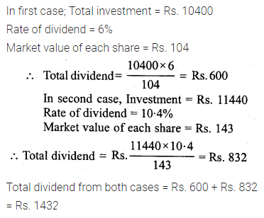 ML Aggarwal Class 10 Solutions for ICSE Maths Chapter 3 Shares and Dividends Ex 3 21