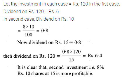 ML Aggarwal Class 10 Solutions for ICSE Maths Chapter 3 Shares and Dividends Ex 3 23