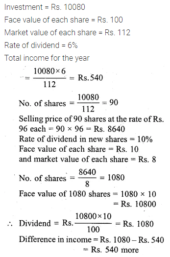 ML Aggarwal Class 10 Solutions for ICSE Maths Chapter 3 Shares and Dividends Ex 3 24