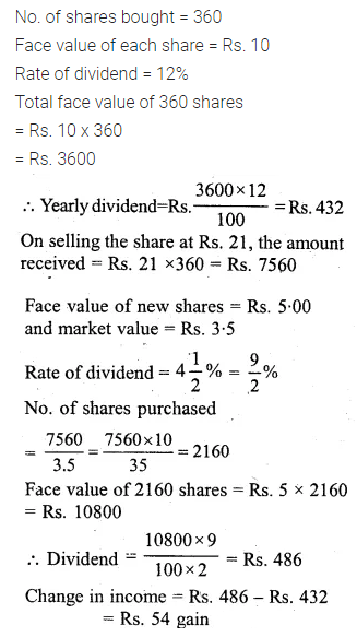 ML Aggarwal Class 10 Solutions for ICSE Maths Chapter 3 Shares and Dividends Ex 3 25