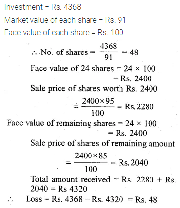 ML Aggarwal Class 10 Solutions for ICSE Maths Chapter 3 Shares and Dividends Ex 3 26