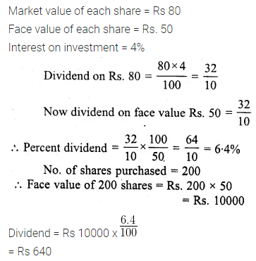 ML Aggarwal Class 10 Solutions for ICSE Maths Chapter 3 Shares and Dividends Ex 3 27