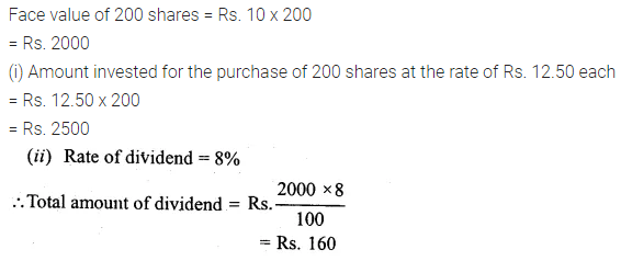 ML Aggarwal Class 10 Solutions for ICSE Maths Chapter 3 Shares and Dividends Ex 3 3