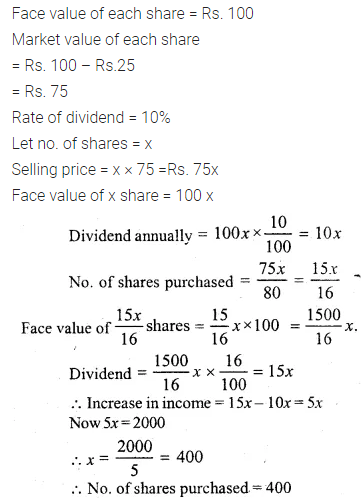 ML Aggarwal Class 10 Solutions for ICSE Maths Chapter 3 Shares and Dividends Ex 3 33