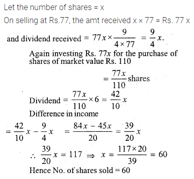 ML Aggarwal Class 10 Solutions for ICSE Maths Chapter 3 Shares and Dividends Ex 3 34