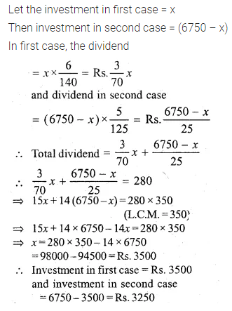 ML Aggarwal Class 10 Solutions for ICSE Maths Chapter 3 Shares and Dividends Ex 3 35