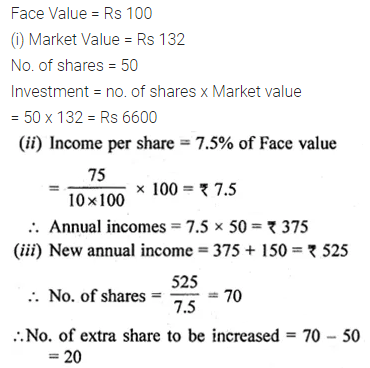 ML Aggarwal Class 10 Solutions for ICSE Maths Chapter 3 Shares and Dividends Ex 3 5