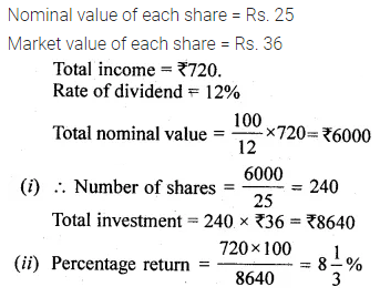 ML Aggarwal Class 10 Solutions for ICSE Maths Chapter 3 Shares and Dividends Ex 3 7