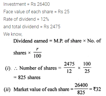 ML Aggarwal Class 10 Solutions for ICSE Maths Chapter 3 Shares and Dividends Ex 3 8