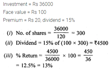 ML Aggarwal Class 10 Solutions for ICSE Maths Chapter 3 Shares and Dividends Ex 3 9