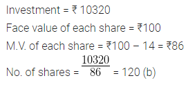 ML Aggarwal Class 10 Solutions for ICSE Maths Chapter 3 Shares and Dividends MCQS 1