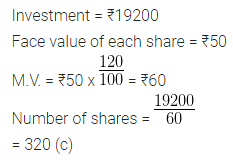 ML Aggarwal Class 10 Solutions for ICSE Maths Chapter 3 Shares and Dividends MCQS 2