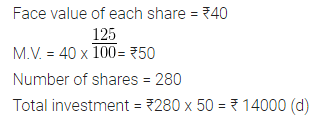ML Aggarwal Class 10 Solutions for ICSE Maths Chapter 3 Shares and Dividends MCQS 3