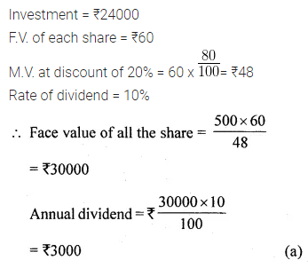 ML Aggarwal Class 10 Solutions for ICSE Maths Chapter 3 Shares and Dividends MCQS 5