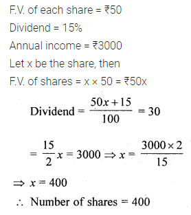 ML Aggarwal Class 10 Solutions for ICSE Maths Chapter 3 Shares and Dividends MCQS 6