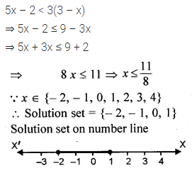ML Aggarwal Class 10 Solutions for ICSE Maths Chapter 4 Linear Inequations Chapter Test 1