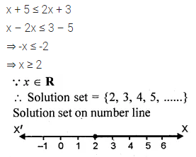 ML Aggarwal Class 10 Solutions for ICSE Maths Chapter 4 Linear Inequations Chapter Test 3