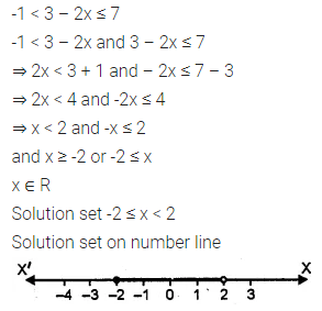 ML Aggarwal Class 10 Solutions for ICSE Maths Chapter 4 Linear Inequations Chapter Test 4