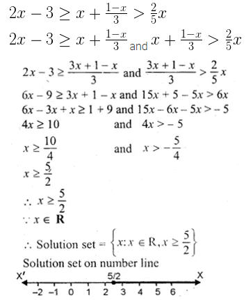 ML Aggarwal Class 10 Solutions for ICSE Maths Chapter 4 Linear Inequations Chapter Test 7