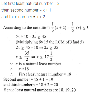ML Aggarwal Class 10 Solutions for ICSE Maths Chapter 4 Linear Inequations Chapter Test 9