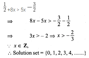 ML Aggarwal Class 10 Solutions for ICSE Maths Chapter 4 Linear Inequations Ex 4 11
