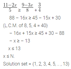 ML Aggarwal Class 10 Solutions for ICSE Maths Chapter 4 Linear Inequations Ex 4 12