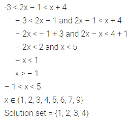ML Aggarwal Class 10 Solutions for ICSE Maths Chapter 4 Linear Inequations Ex 4 17