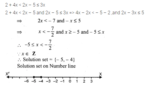 ML Aggarwal Class 10 Solutions for ICSE Maths Chapter 4 Linear Inequations Ex 4 19
