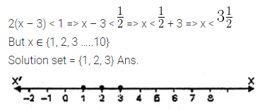ML Aggarwal Class 10 Solutions for ICSE Maths Chapter 4 Linear Inequations Ex 4 2