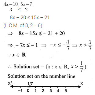 ML Aggarwal Class 10 Solutions for ICSE Maths Chapter 4 Linear Inequations Ex 4 21