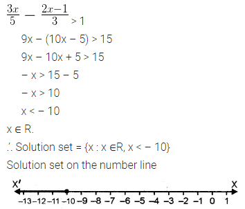 ML Aggarwal Class 10 Solutions for ICSE Maths Chapter 4 Linear Inequations Ex 4 22