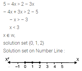 ML Aggarwal Class 10 Solutions for ICSE Maths Chapter 4 Linear Inequations Ex 4 3