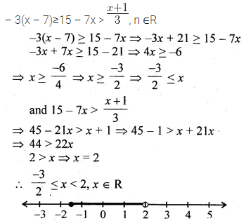 ML Aggarwal Class 10 Solutions for ICSE Maths Chapter 4 Linear Inequations Ex 4 30