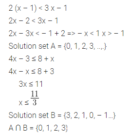 ML Aggarwal Class 10 Solutions for ICSE Maths Chapter 4 Linear Inequations Ex 4 33