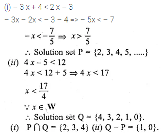 ML Aggarwal Class 10 Solutions for ICSE Maths Chapter 4 Linear Inequations Ex 4 34